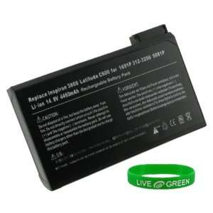 Battery for Dell Latitude CPi D300 XT, 4460mAh 8 Cell Electronics