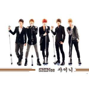 white POSTER 34 x 23.5 Taemin Onew Korean boy band