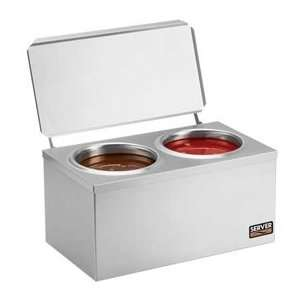 Double Dip Server   Hot Topping Cone Dipping Warmer