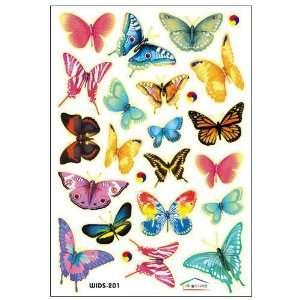 Vibrant Butterflies Nursery/Kids Room Wall Sticker Decals