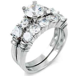 Nothing Compares to this Consummate Silver Wedding Ring Set, Crafted