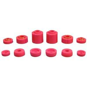 Prothane 6 108 Red Body and Cab Mount Bushing Kit   12