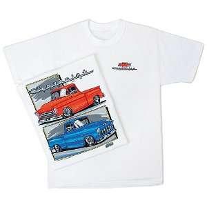 Chevrolet Pickups Trucks T Shirt 1955 1956 1957 X Large