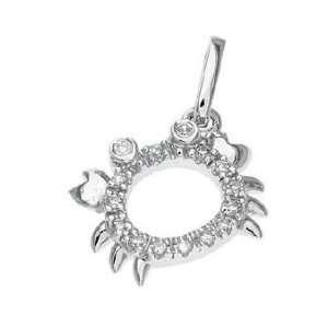 14k Real White Gold Diamond Crap Pendant Charm 16999