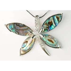 Natural Seashell Watermarks Dragonfly Insect Crystal