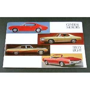 1968 68 GM BROCHURE Caprice GTO Firebird Camaro Electra