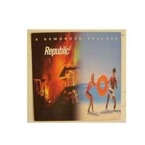 New Order Poster Flat New Republic Joy Division