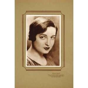 1925 Alice Joyce Silent Film Star Lithograph Portrait