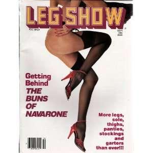 LEG SHOW SEPTEMBER 1986 (9/86): LEG SHOW MAGAZINE: Books