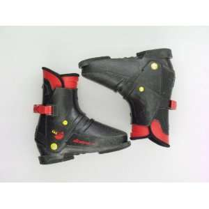 Used Nordica Junior 135 Rear Entry Black Ski Boots Toddler