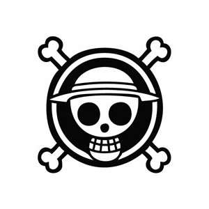 One Piece Anime Logo   Cartoon Decal Vinyl Car Wall Laptop Cellphone