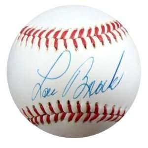 Lou Brock Autographed NL Baseball PSA/DNA #P30054  Sports