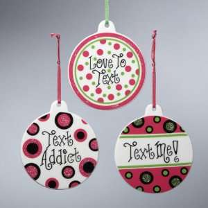 Club Pack of 12 Tween Christmas Text Message Addict
