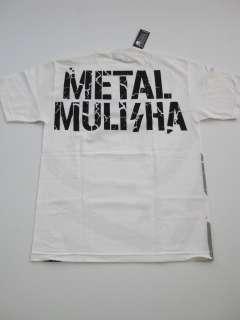 TAKE OVER SKULL Metal Mulisha WHITE Shirt Tee UFC MMA MENS SS SHORT