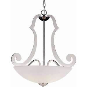 Trans Globe 3988 PC 3 Light Laser Cut Pendant in Polished Chrome 3988
