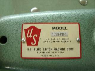 US Blind Stitch 1099 PB 1 PB1 Sewing Machine Heavy Duty Industrial