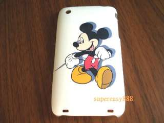 White Disney mickey mouse hard case back cover for IPhone 3G 3GS