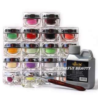 18 Color Pro Carving Powder Nail Art Combination ZM