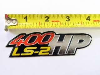 05 06 PONTIAC GTO LS2 400HP 6.0L ENGINE EMBLEMS BADGES