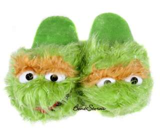 Sesame Street OSCAR THE GROUCH MUPPETS ADULT Slippers PLUSH HOUSE