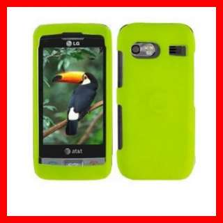GREEN RUBBER HARD CRYSTAL CASE COVER LG VU PLUS GR700