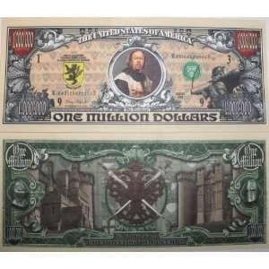 Set of 10 Bills Medieval Million Dollar BILL Toys & Games