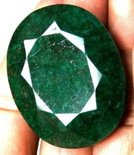 215 CARAT NATURAL BRAZILIAN GREEN EMERALD OVAL SHAPED FACETED GEMSTONE