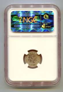 SOUTH AFRICA ZAR NGC GRADED 1897 KRUGER 3 PENCE   XF