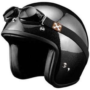 SparX Old School Bobber Open Face Pearl Motorcycle Helmet