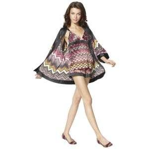 ROBE CAMISOLE Top Pajama SHORTS LTD ED ZIG ZAG Lounge Wear Target NEW