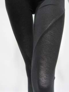 Rick Owens Lilies womens black seamed leggings 4 $345 New