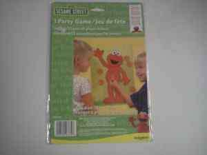 NEW Sesame Street Elmo Party Game Up To 12 Players Pin The Nose On