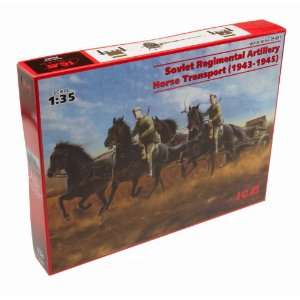 1/35 USSR Arty Horse Trans, 6 Figures Toys & Games