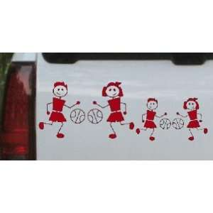 Basketball Stick Family 2 Kids Stick Family Car Window Wall Laptop