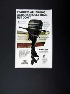 Mercury 110 9.8 hp Outboard Engine Motor marine 1973 print Ad