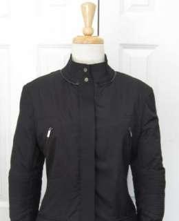 Amazing KAREN MILLEN Long Black Jacket Coat Sz 10 L   UK 12