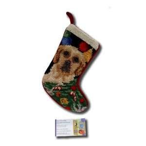 Stocking Needle Point Christmas Xmas Animal Seasonal Lab Puppy Sk 787s