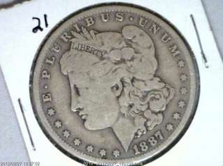 1887 O MORGAN SILVER DOLLAR GEM HIGH DEFINITION KEY YEAR COIN # 21