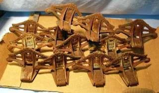 LOT of 12 * Antique CAST IRON * Snow Birds dated 1906