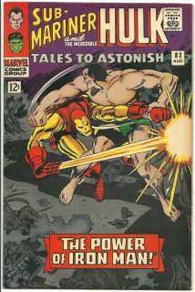 TALES TO ASTONISH #82 VF  7.5 JACK KIRBY ART IRON MAN BATTLES SUB
