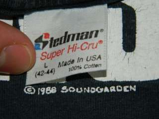 1988 SOUNDGARDEN VTG TOUR T SHIRT ULTRAMEGA OK SEATTLE GRUNGE NIRVANA
