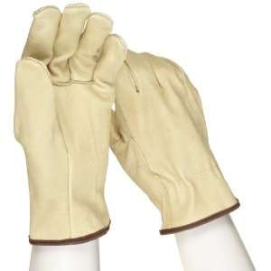 West Chester 994 Leather Glove, Shirred Elastic Wrist Cuff, 10 Length