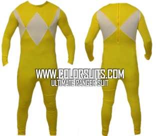 Mighty Morphin Power Rangers Yellow Power Ranger Costume Suit v2   ALL