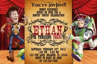 TOY STORY BIRTHDAY PARTY INVITATIONS PHOTO 1 2 3 BUZZ