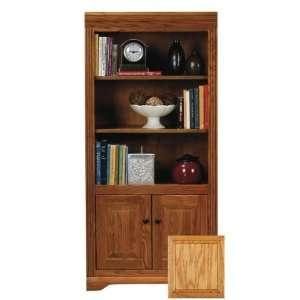 Coastal 93460WPLT Coastal Oak Ridge 60 Open Bookcase with Doors  Lite