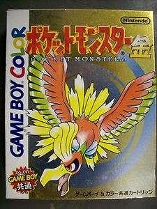 Pokemon Gold (Nintendo Game Boy Color, 2000) Japan Version Pocket