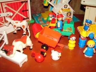 Fisher Price Little People Ferris Wheel Barn Yard School House