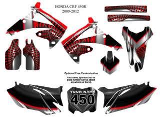 Honda CRF 450R 2009 12 Motocross Bike Graphic Sticker Kit #7777RED