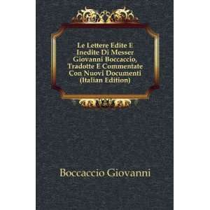 Con Nuovi Documenti (Italian Edition) Boccaccio Giovanni Books