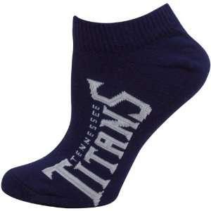 Titans Ladies Navy Blue Team Logo Ankle Socks